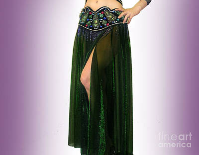 Sparkly Skirt. Ameynra Belly Dance Fashion 9 Print by Sofia Metal Queen