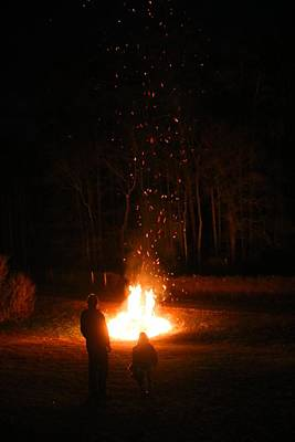 Photograph - Sparks Flying Up by Kathryn Meyer