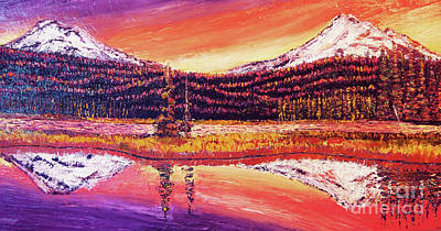 Painting - Sparks Lake At Sunset by Eryn Tehan