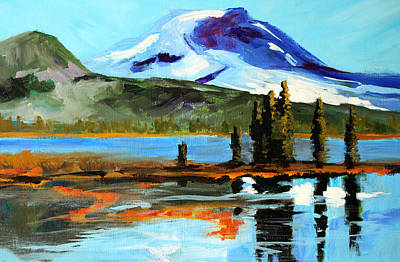 Painting - Sparks Lake Autumn by Nancy Merkle
