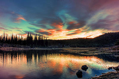 Sparks Lake Hues Art Print