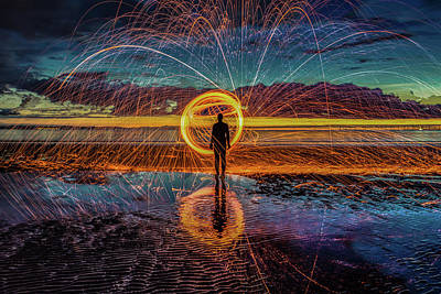 Another Place Photograph - Sparks Will Fly by Paul Madden