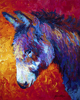 Donkey Painting - Sparky by Marion Rose
