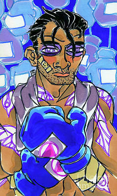 Boxer Drawing - Sparring Partner by Shannon Hedges