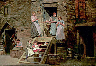 Winslow Homer Painting - Sparrow Hall by Winslow Homer