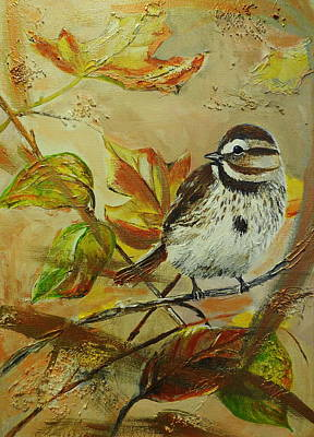 Painting - Sparrow In A Tree by Betty-Anne McDonald
