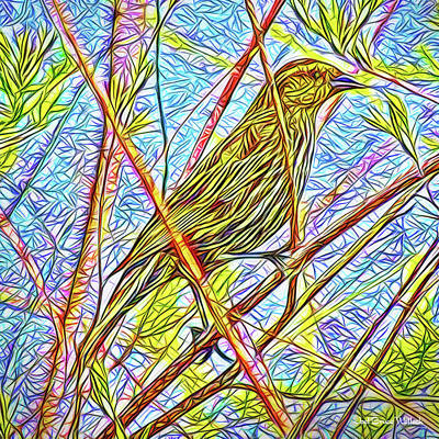 Digital Art - Sparrow In Solitude by Joel Bruce Wallach