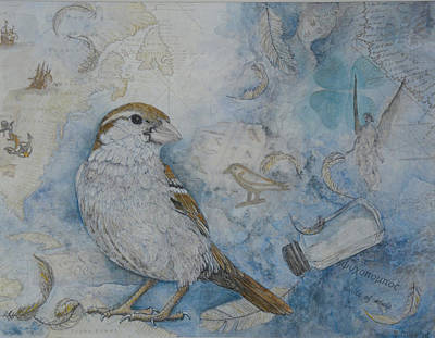 Painting - Sparrow Lore by Sandy Clift