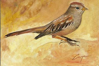 Painting - Sparrow  by Victor Cuya