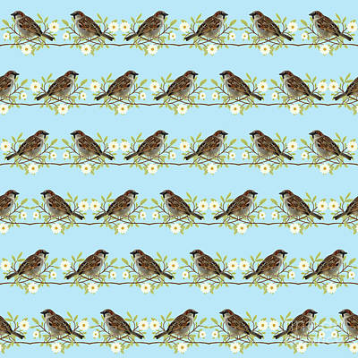 Sparrows Art Print