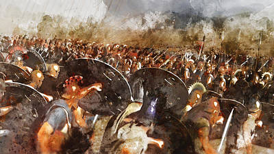 Painting - Spartan Army At War - 13 by Andrea Mazzocchetti