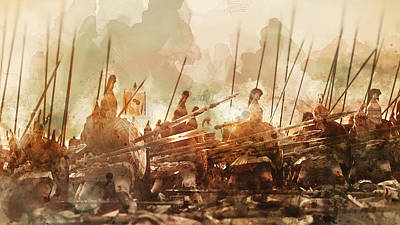 Painting - Spartan Army At War - 14 by Andrea Mazzocchetti