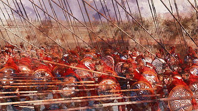 Painting - Spartan Army At War - 15 by Andrea Mazzocchetti