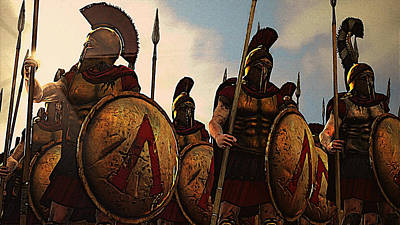 Painting - Spartan Army At War - 17 by Andrea Mazzocchetti