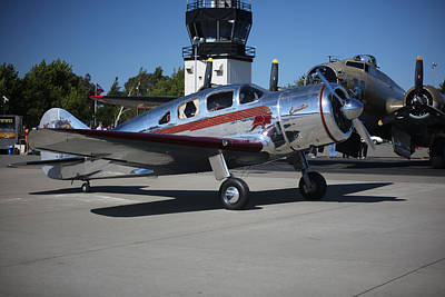 Photograph - Spartan Executive With B17 Flying Fortress Memorial Day Weekend 2015 by John King