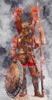 Painting - Spartan Hoplite - 09 by Andrea Mazzocchetti