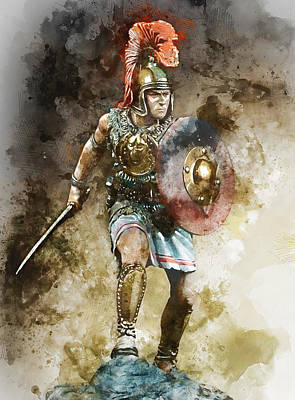 Painting - Spartan Hoplite - 10 by Andrea Mazzocchetti