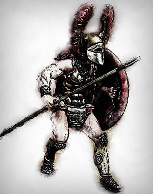 Painting - Spartan Hoplite - 24 by Andrea Mazzocchetti