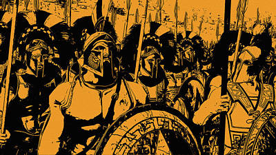 Painting - Spartan Hoplites by Andrea Mazzocchetti