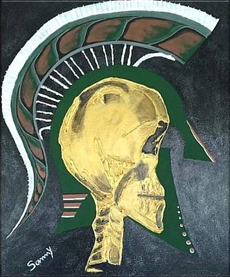 Michigan State Painting - Spartan Visions by Sammy Snow