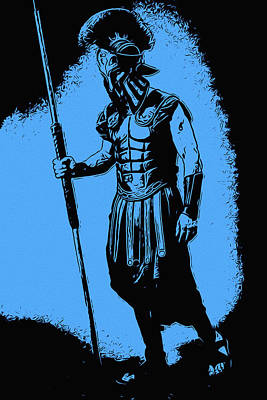 Painting - Spartan Warrior - Glory Of The Brave by Andrea Mazzocchetti