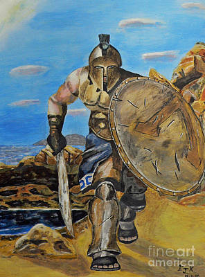 Painting - Spartan Warrior One Of The Three Hundred by Eric Kempson