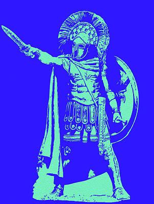 Digital Art - Spartan Warrior - To Glory by Andrea Mazzocchetti