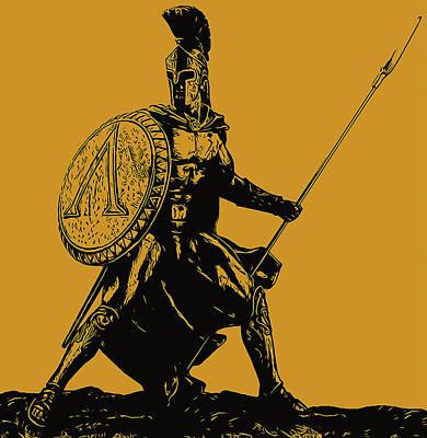 Digital Art - Spartans - Battle Gods by Andrea Mazzocchetti