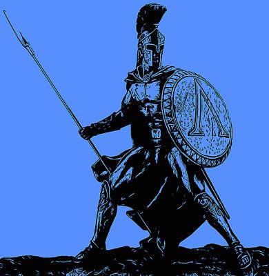 Digital Art - Spartans - Legendary Warriors by Andrea Mazzocchetti