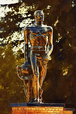 Texas A And M Digital Art - Sparty by Paul Bartoszek