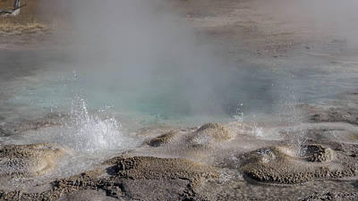 Photograph - Spasmodic Geyser's Bubblers by Janet Jones