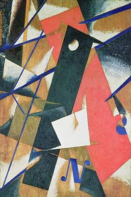 Constructivist Painting - Spatial Force Construction by Lyubov Sergeevna Popova