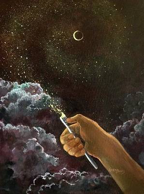 Painting - Spattering The Stardust by Randy Burns