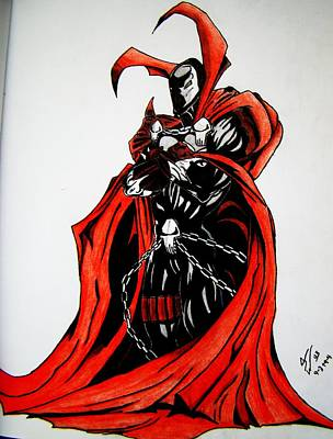 Super Hero Drawings Drawing - Spawn by Christopher Witter