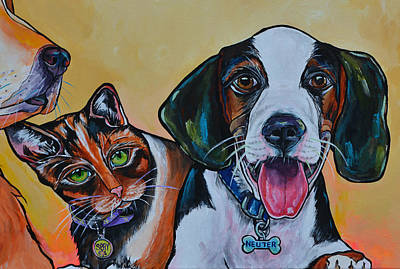 Painting - Spay And Neuter by Patti Schermerhorn