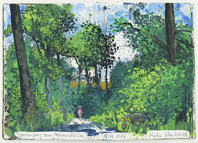 Painting - Spaziergang Zum Hohenacker See Maulbronn by Martin Stankewitz