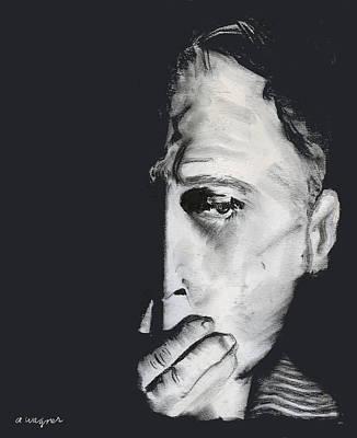 Man Pastel - Speak No Evil by Arline Wagner