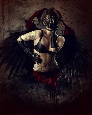 Angel Digital Art - Speak No Evil by Mary Hood