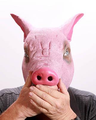 Speak No Swine Flu Art Print by Michael Ledray