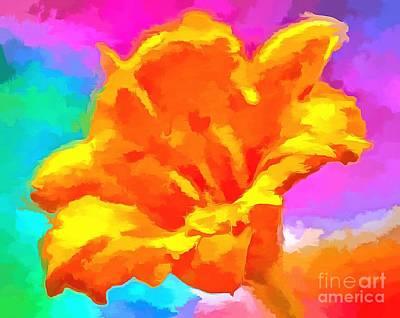 Abstract Flower Garden Digital Art - Speak Of Joy by Krissy Katsimbras