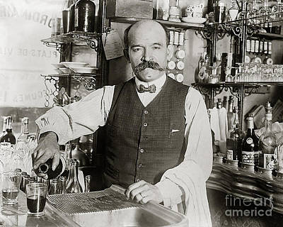 Cops Photograph - Speakeasy Bartender by Jon Neidert