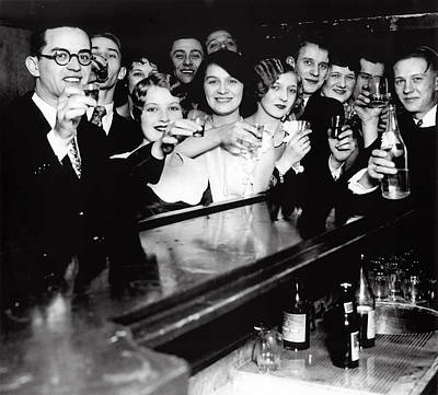 Champagne Photograph - Speakeasy Toast - Prohibition C. 1929 by Daniel Hagerman