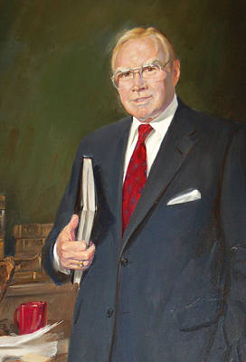 Painting - Speakers Of The United States House Of Representatives, Jim Wright, Texas by Celestial Images