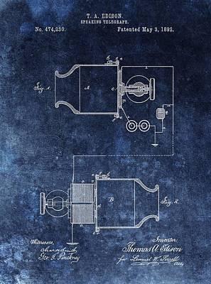 Speaking Telegraph Patent Art Print by Dan Sproul