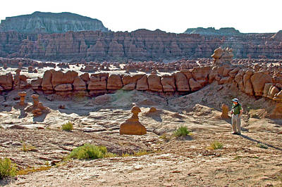 Photograph - Speaking To Goblins On Carmel Canyon Trail In Goblin Valley State Park, Utah by Ruth Hager