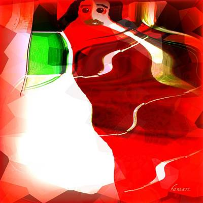 Visual Communication Digital Art - Speaking With My Own Spirit by Fania Simon
