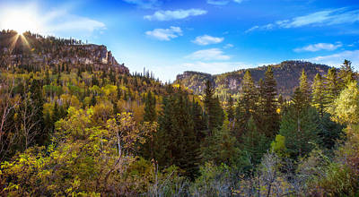 Photograph - Spearfish Canyon Near Savoy In Autumn by Ray Van Gundy