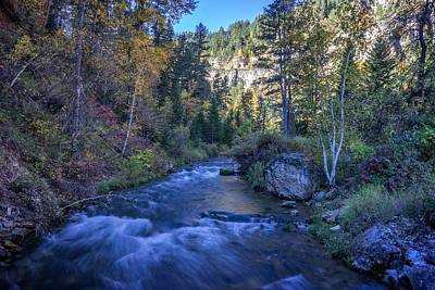Photograph - Spearfish Creek In Autumn by Ray Van Gundy