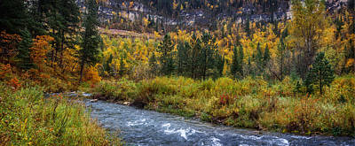 Photograph - Spearfish Creek South Dakota In Autumn by Ray Van Gundy