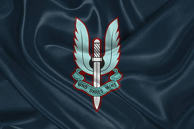 Digital Art - Special Air Service - S A S Unit Flag by Serge Averbukh